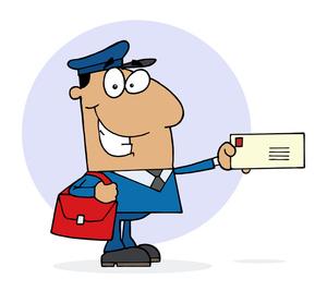 mail clipart postman delivering a letter 0521 1008 0622 0653 smu